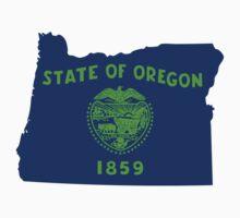 Oregon [Blue Green]   Flag State   SteezeFactory.com by FreshThreadShop