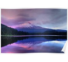 Trillium Lake At Dusk Poster