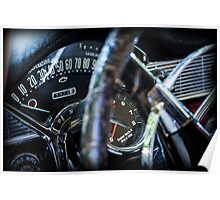 Classic Chevy Interior Poster