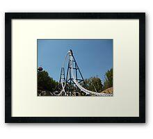 Full Throttle Roller Coaster Framed Print