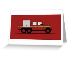 Land Rover Defender 110 6X6 Fire Engine Greeting Card