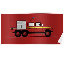 Land Rover Defender 110 6X6 Fire Engine Poster