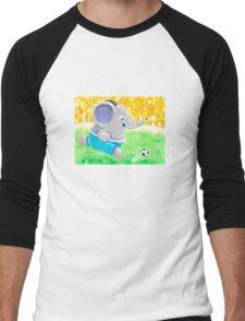 Football Player - Rondy the Elephant playing soccer Men's Baseball ¾ T-Shirt
