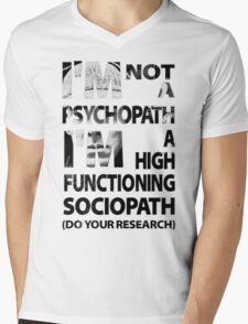 Sherlock - I'm Not A Psychopath... Mens V-Neck T-Shirt