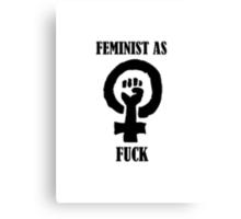 FEMINIST AS! Canvas Print