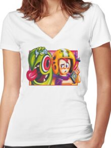 Oldies Commander Keen - Retro DOS game fan shirt Women's Fitted V-Neck T-Shirt