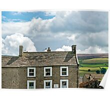 Rooftops and Moorland Poster