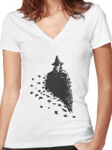 The Crow Women's Fitted V-Neck T-Shirt