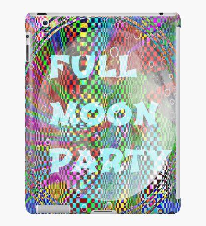 full moon party iPad Case/Skin