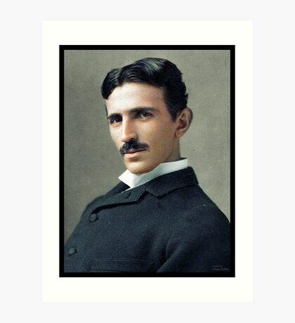 Nikola Tesla, ca. 1890 Art Print