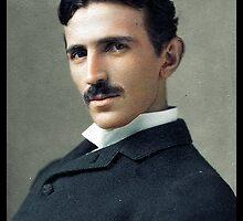 Nikola Tesla, ca. 1890 by Dana Keller