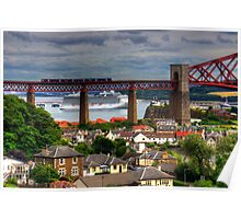 Cruise Ship in the Forth Poster