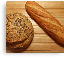 French Bread...............Just Add The Cheese Board Canvas Print