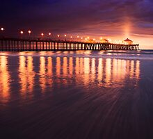 Huntington Beach Sunset by jswolfphoto