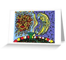 Sun Moon Child Greeting Card