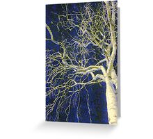 White Bony Fingered Arrows Greeting Card