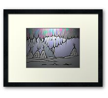 Teepee Night Framed Print