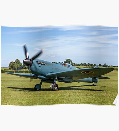 Spitfire PR.XI PL965/R G-MKXI at Old Warden Poster