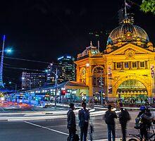 Flinders Street Station, Melbourne Australia by Paul Cudina
