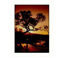 Sunset over Balyang Art Print