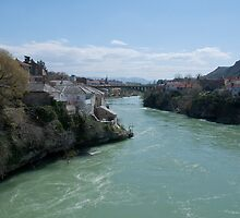 View from the bridge at Mostar by MigBardsley