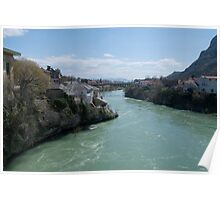 View from the bridge at Mostar Poster