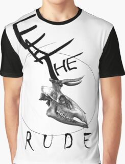 Eat The Rude-skull Graphic T-Shirt