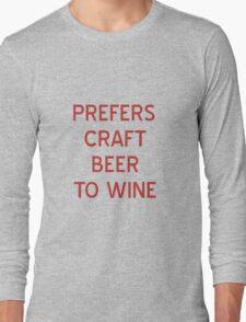 Craft Beer to Wine T-Shirt- CoolGirlTeez Long Sleeve T-Shirt