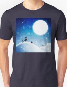 Winter Mountains Moonlight Unisex T-Shirt