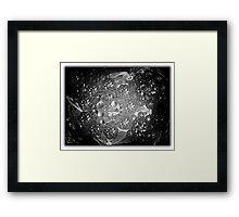 ©DA Spheres Fractal N Monochromatic Framed Print