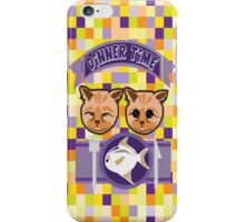 Kitty's dinner time iPhone Case/Skin