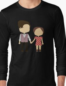 Eleventh Doctor and Clara Oswald Long Sleeve T-Shirt
