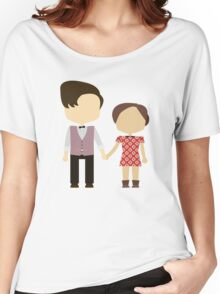 Eleventh Doctor and Clara Oswald Women's Relaxed Fit T-Shirt