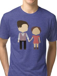 Eleventh Doctor and Clara Oswald Tri-blend T-Shirt