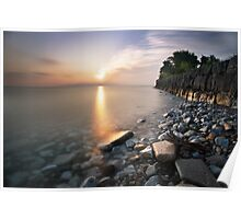 Sunrise over Lake Ontario Poster