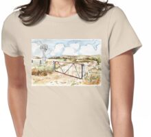 A windpomp and a gate Womens Fitted T-Shirt