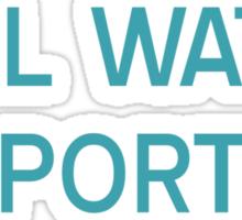 Will Watch Sports T-Shirt- CoolGirlTeez Sticker
