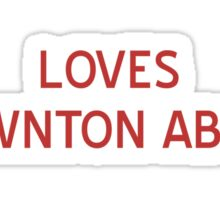 Loves Downton Abbey T-Shirt- CoolGirlTeez Sticker
