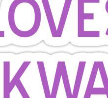 Loves Awkward T-Shirt- CoolGirlTeez Sticker