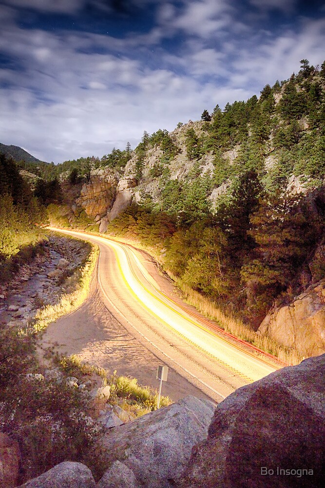 Boulder Canyon Beams Of Light by Bo Insogna