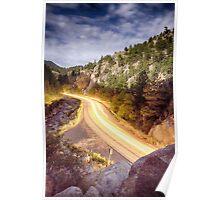 Boulder Canyon Beams Of Light Poster