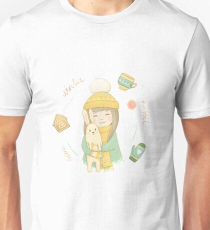 Home. Winter. Rabbit Unisex T-Shirt