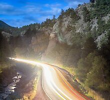 Boulder Canyon Neon Light by Bo Insogna