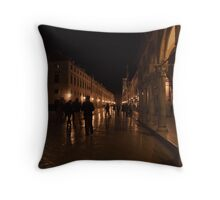 Dubrovnik at night. Throw Pillow