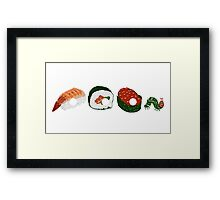 Very Hungry Sushi Framed Print