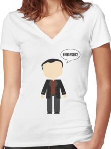 Ninth Doctor Women's Fitted V-Neck T-Shirt