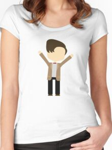 Happy Eleventh Doctor Women's Fitted Scoop T-Shirt