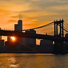 Brooklyn Bridge at  Sunset by Poete100