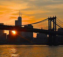 New York City Skyline Sunset...Manhattan bridge! by Poete100