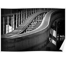 Monorail in Monochrome Poster